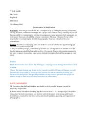 sample explanatory essay color code and re write your ms  3 pages argumentative writing practice