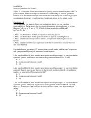 Bio151 F16 Practice Questions for Exam 3