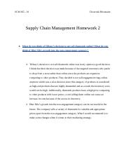 Supply Chain Management Homework 2 - Chourouk Rhounaim.docx