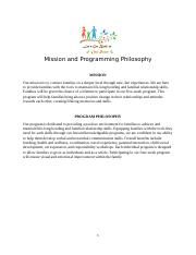 Mission and Programming Philosophy