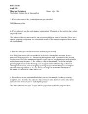 Museum Worksheet (1)