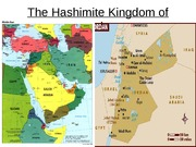 The Hashimite Kingdom of Jordan