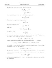 Math 307i Midterm 1 Winter 2011-ans