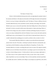 The Nature of Science Essay