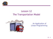 12 Transportation Model LP