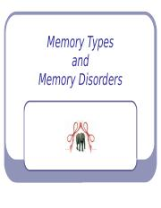 10 types of memory and disorders