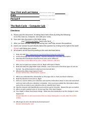 Rocks and Minerals Webquest (1) - Rocks and Minerals ...