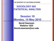 UCR SOC 005 STAT SPR 2010 Session 19  V4