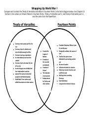 Treaty of Versailles vs. Wilson's Fourteen Points Venn Diagram.docx