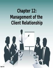 chapter 12 MGT of the client relationship