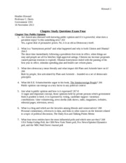 H Howard Chapter Study Questions Exam 4 Submission