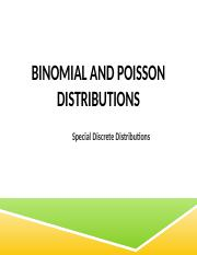 M06B Binomial and Possion
