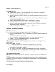 Race & Ethnicity Notes