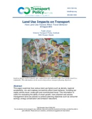 How Land Use Affects Travel Behavior
