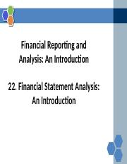 Reading+22+Financial Statement Analysis_An Introduction
