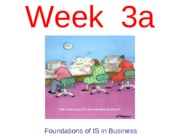 Week 3a - Foundations of IS in Business