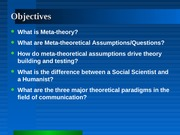 Meta-Theoretical Assumptions-1