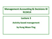 Lecture 3 Activity-based Management
