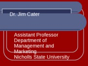 Dr. Jim Cater Bio Fall 2011