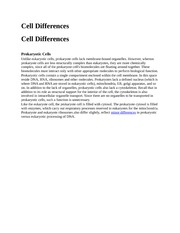 Cell Differences