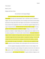 Religion and Science Fiction Critical Essay