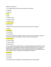 Biology Exam questions 4