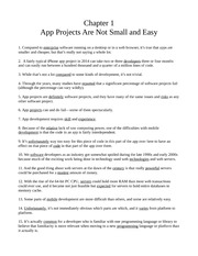 Chapter One - App Projects Are Not Small and Easy