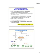 Lecture 11 & 12 - Electrical Properties