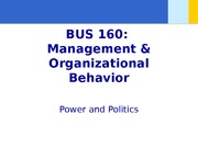 Chapter 14 - Power and Politics - student