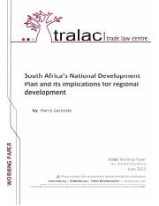 D13WP012013-Zarenda-South-Africas-NDP-and-implications-for-regional-development-20130612-fin
