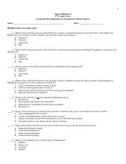 Sports Medicine II test on assessment documentation rehab.docx