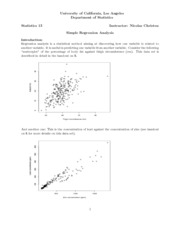 6. Introduction to regression analysis