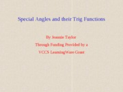 TrigFunctionsofSpecialAngles