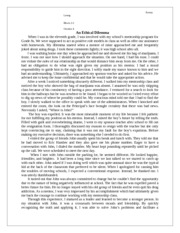Recognizing Truth - An Ethical Dilemma Essay