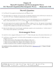 Chapter 18-Maxwell Equations and Electromagnetic Waves
