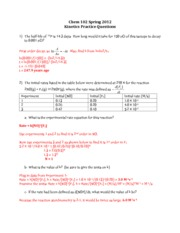 104 S13 Kinetics Practice questions KEY