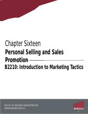 Chapter 16 - Personal Selling and Sales Promotion.pptx