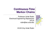 Section 12- Continuous Time Markov Chains