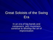 Great Soloists of the Swing Era