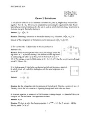 Exam 2 Solution Fall 2014 on Physics 2 with Electricity and Magnetism