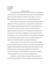 River Test Essay