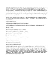 Cloud Computing MGMT INFO SYSTEMS Homework 2.docx