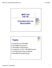 9 - Intro to DeviceNet - Fall 09