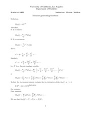 05. Moment generating functions and properties