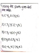find the slope with given points