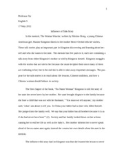 Influence of Talk-story Essay