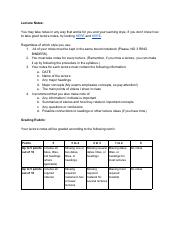 Lecture Notes Guidelines