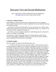 lecture notes_Descartes' First and Second Meditations