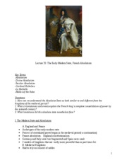 20. Early Modern State French Absolutism_outline