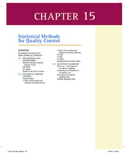 Essentials of Modern Business Statistics Chaper 15